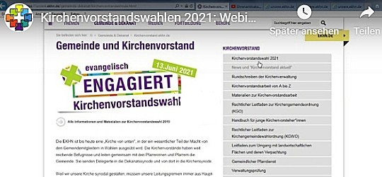 Screenshot der Website kirchenvorstand.ekhn.de
