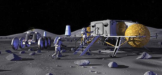 Leben auf dem Mond, ein Thema für weiterreichende Gedanken