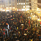 Anti-PEGIDA-Demo in Frankfurt