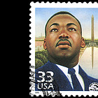 Briefmarke mit Martin Luther King